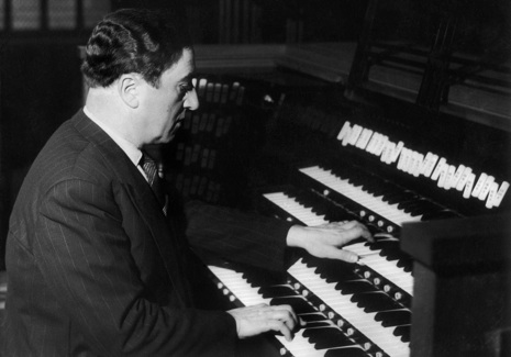 Maurice Durufle Playing The Organ In 1956